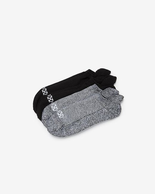 Express Black Two Pack Athletic Ankle Socks