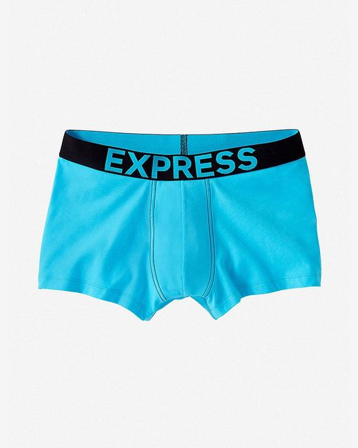 Express | Blue Contrast Band Sport Trunk for Men | Lyst