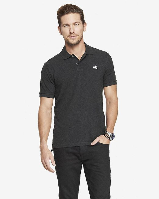 Express | Gray Modern Fit Small Lion Pique Polo for Men | Lyst