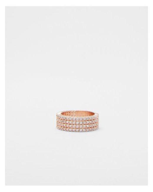 Express - Metallic Pavé Four Row Ring - Lyst