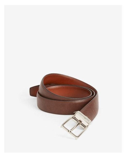 Express - Brown Pebbled Stretch Prong Buckle Belt for Men - Lyst