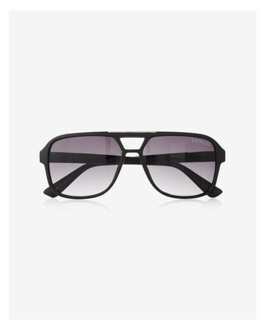 38c11a8a93 Express Matte Thick Frame Sunglasses in Metallic for Men - Lyst