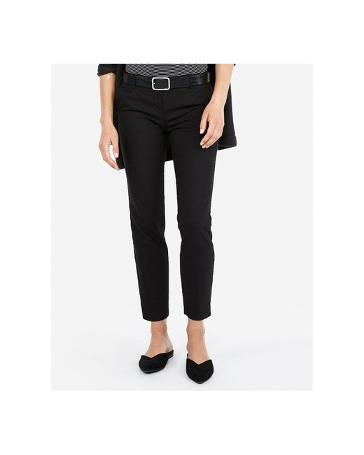 Express - Low Rise Columnist Ankle Pant Black - Lyst