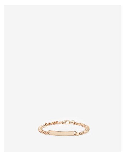 Express - Metallic Metal Plaque Bracelet for Men - Lyst
