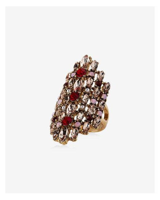 Express | Multicolor Deco Encrusted Cocktail Ring | Lyst