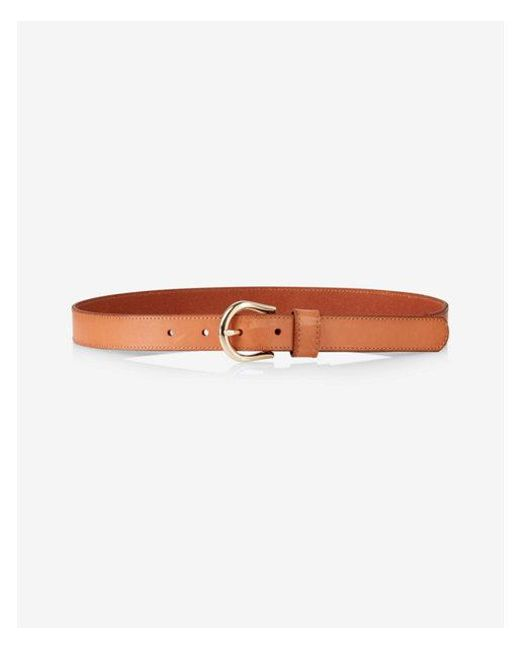 Express - Brown Leather Buckle Belt - Lyst