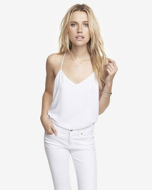 Express | White Barcelona Cami | Lyst