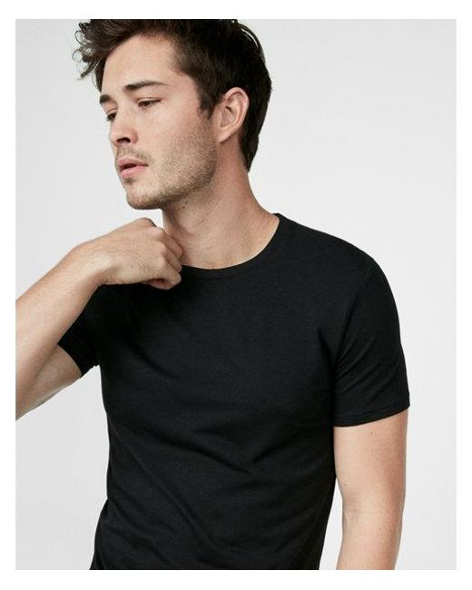 2b3e5ba5ac Lyst - Express Slim Supersoft Crew Neck Tee in Black for Men