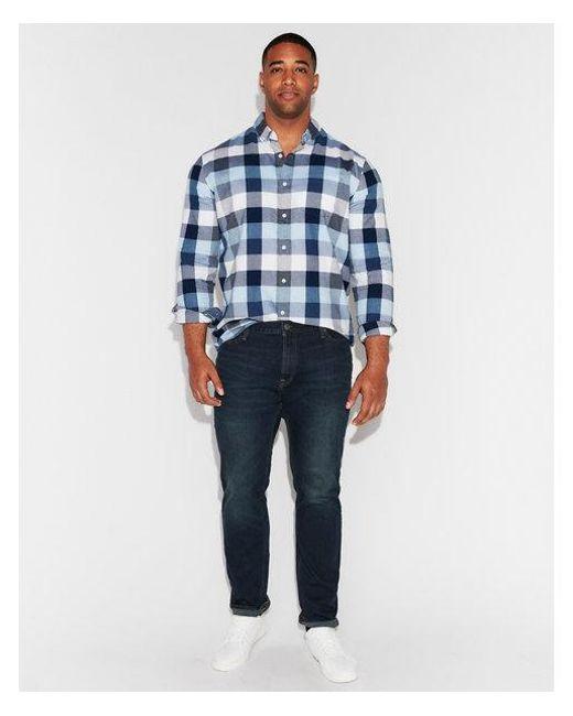 Express - Blue Slim Dark Wash Tough Stretch+ Jeans, Men's Size:w28 L28 for Men - Lyst