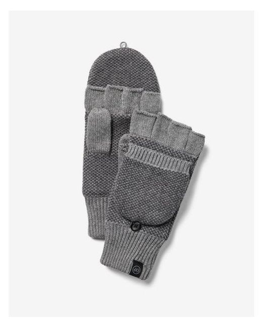 Express - Gray Flip Top Gloves for Men - Lyst