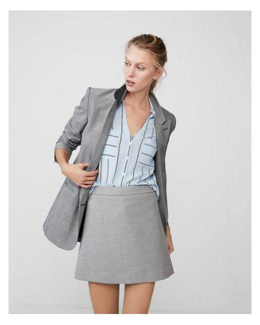 Express | Blue Slim Fit Vertical Stripe Portofino Shirt | Lyst