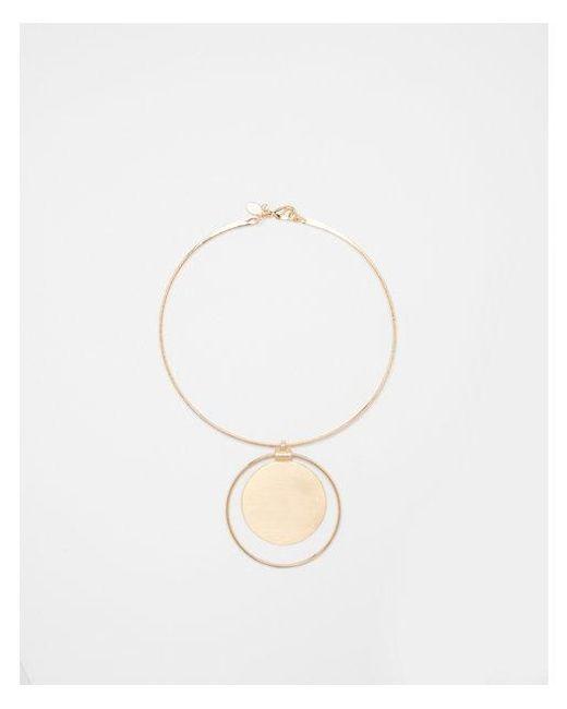 Express - Metallic Circle Pendant Collar Necklace - Lyst