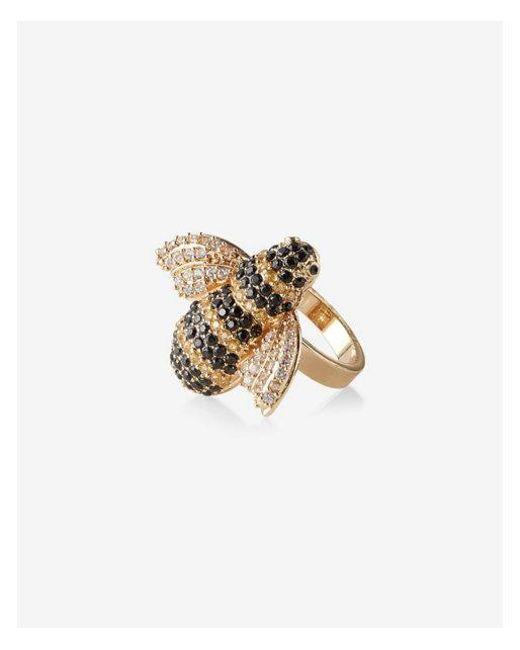 Express - Metallic Pave Bee Ring - Lyst