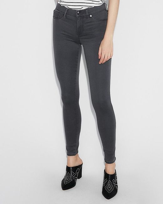 Express Mid Rise Gray Jeggings,