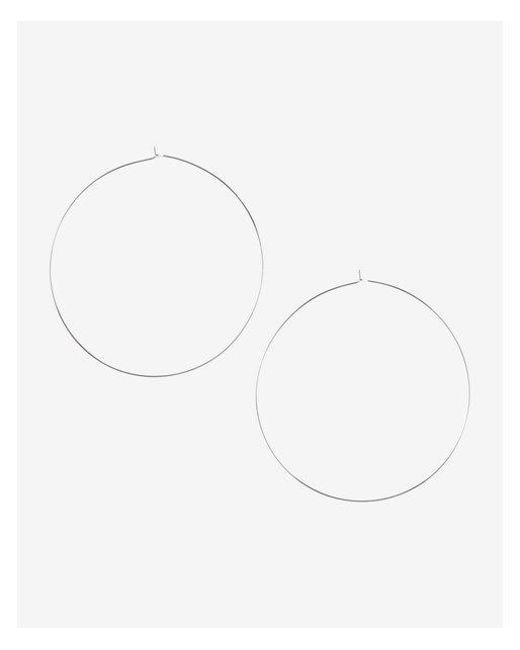 Express - Metallic Thin Metal Hoop Earrings - Lyst