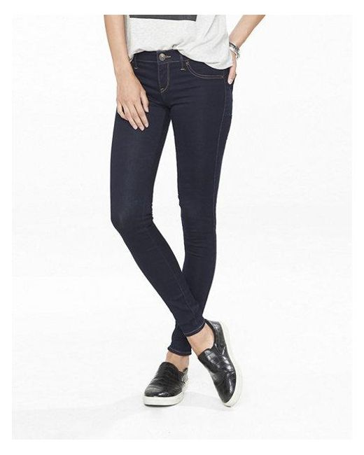 Express - Blue Low Rise Stretch+ Jean Leggings, Women's Size:16 Short - Lyst