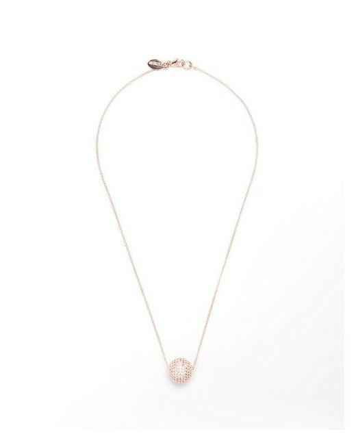Express - Metallic Embellished Ball Pendant Necklace - Lyst
