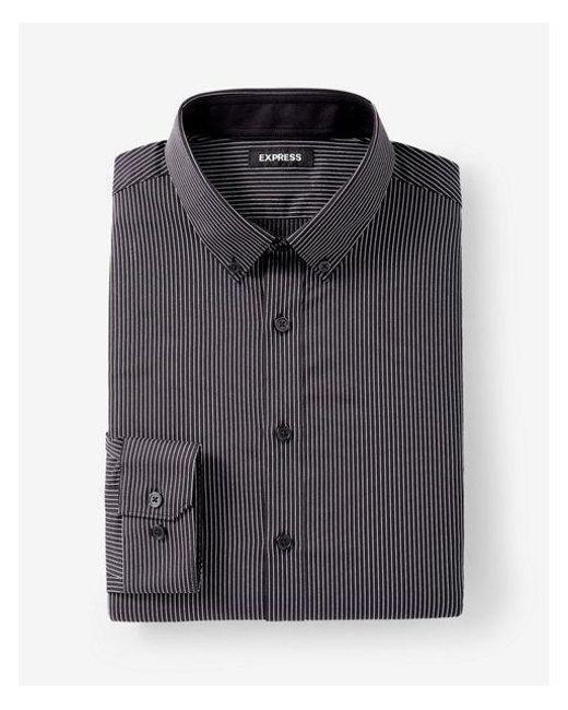 Lyst express extra slim fit striped performance dress for Extra slim dress shirt