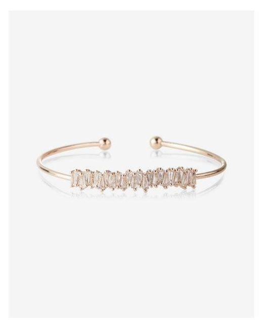 Express | Metallic Zigzag Trapezoid Skinny Cuff Bracelet | Lyst