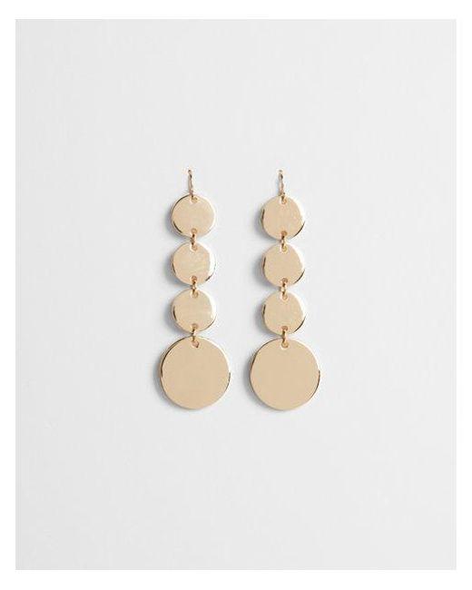 Express - Metallic Linear Disc Drop Earrings - Lyst