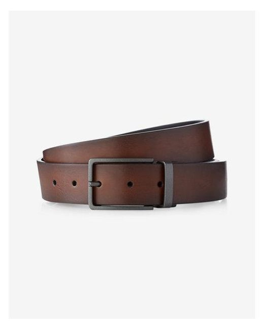 Express - Brown Reversible Square Prong Belt for Men - Lyst