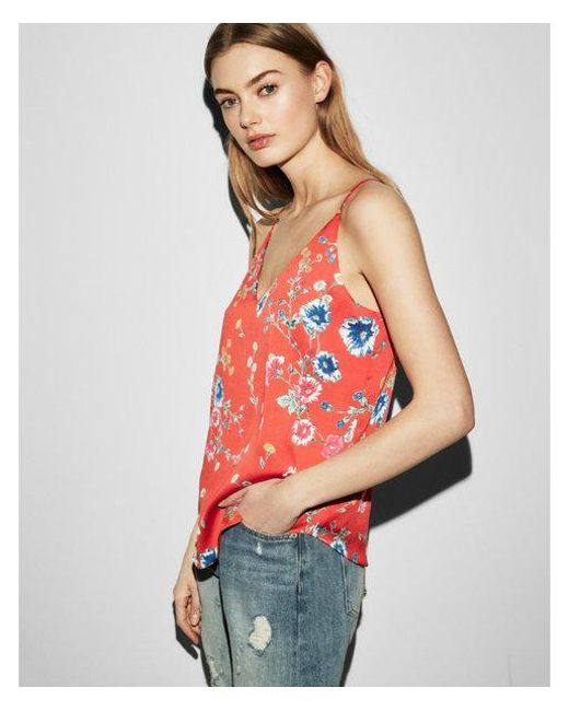Express - Red Wildflower Downtown Cami - Lyst