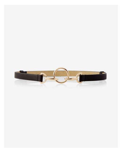 Express - Black Circle Hook Belt - Lyst