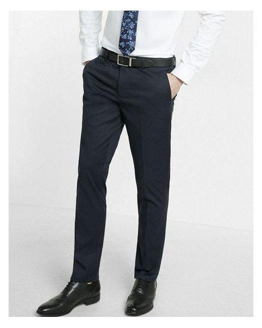 15d74bcedd4 Lyst - Express Men s Big   Tall Extra Slim Navy Dress Pants in Blue ...