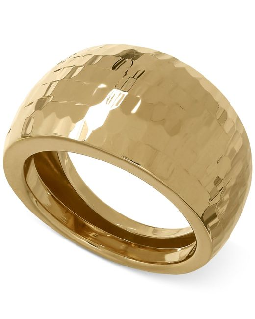 Macy s Wide Domed Ring In 14k Gold in Floral Yellow Gold