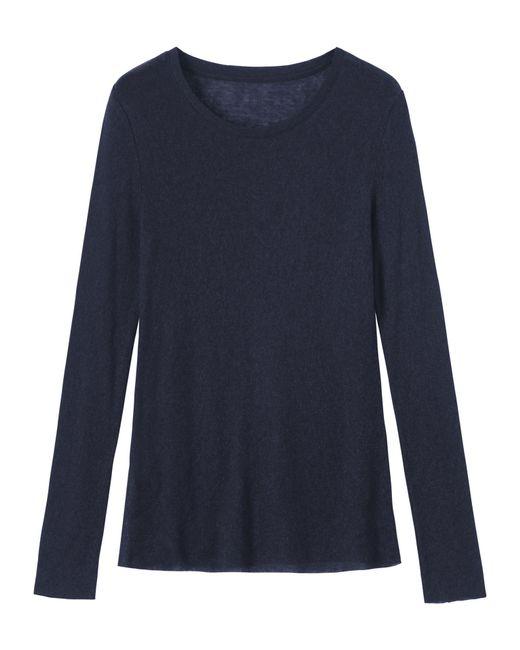 Toast | Blue Fine Wool/tencel Jersey Tee | Lyst