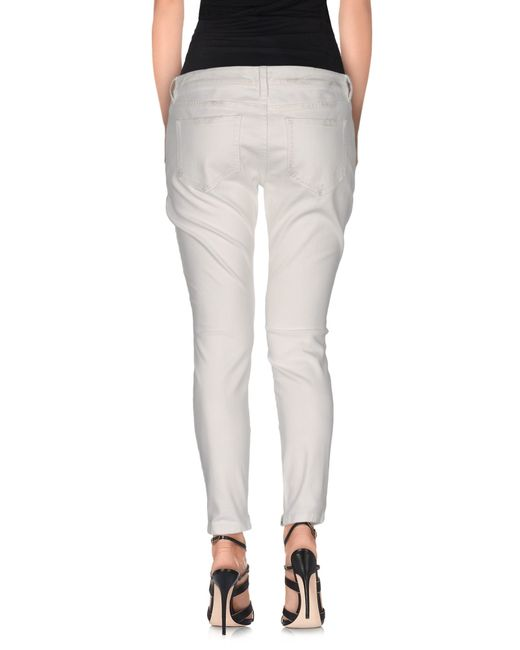 Faith Connexion | White Denim Trousers | Lyst