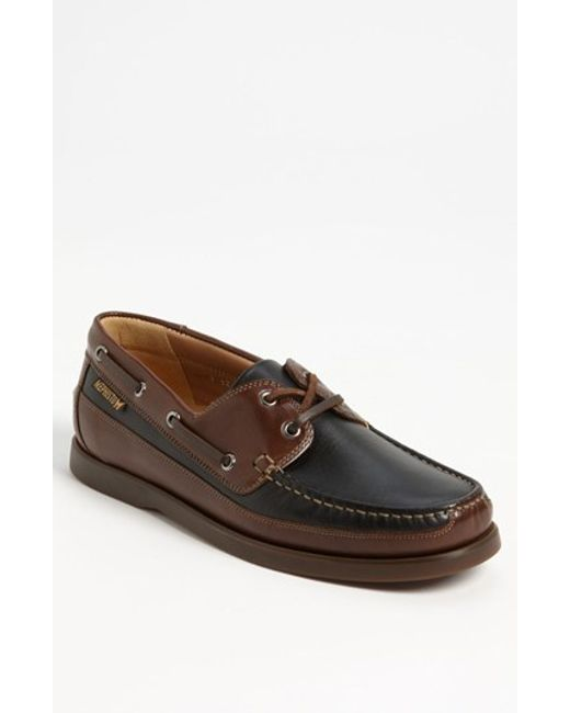 mephisto boating water resistant leather boat shoe in