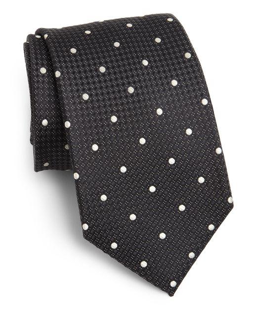 Saks Fifth Avenue | Black Dot Print Silk Tie for Men | Lyst