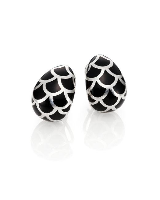 John Hardy | Metallic Naga Enamel & Sterling Silver Buddha Belly Earrings | Lyst