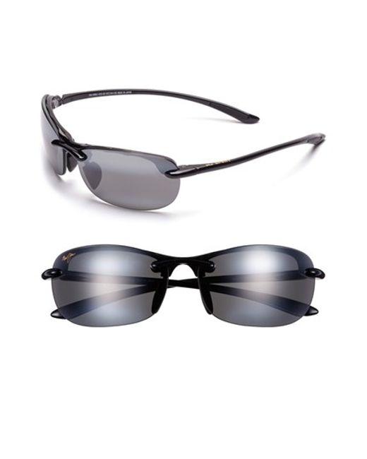 Maui Jim | Black 'hanalei - Maui Evolution' 64mm Rimless Sunglasses | Lyst