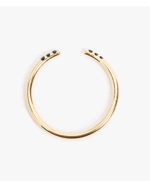 Jennie Kwon   Metallic Black Equilibrium Cuff Ring   Lyst
