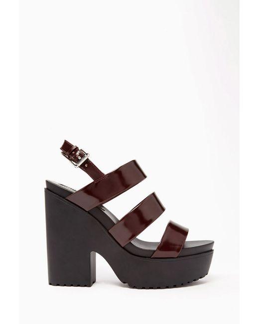 Forever 21   Purple Faux Patent Leather Platform Sandals   Lyst