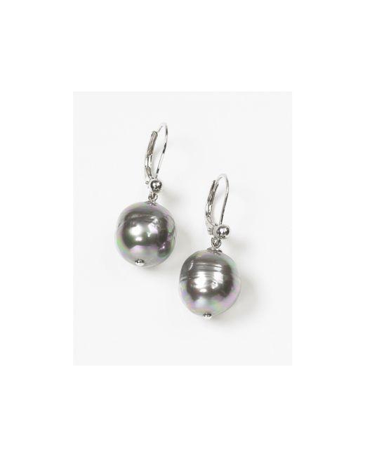 Majorica | Gray Women's 12mm Baroque Grey Simulated Pearl Drop Earrings | Lyst