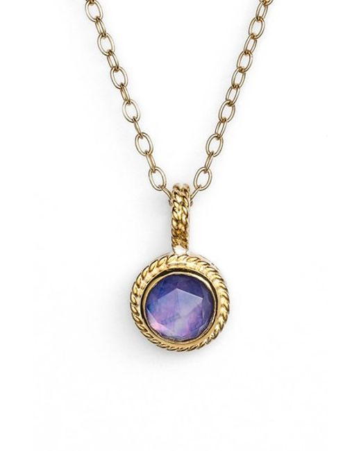 Anna beck Semiprecious Stone Round Drop Pendant Necklace ...