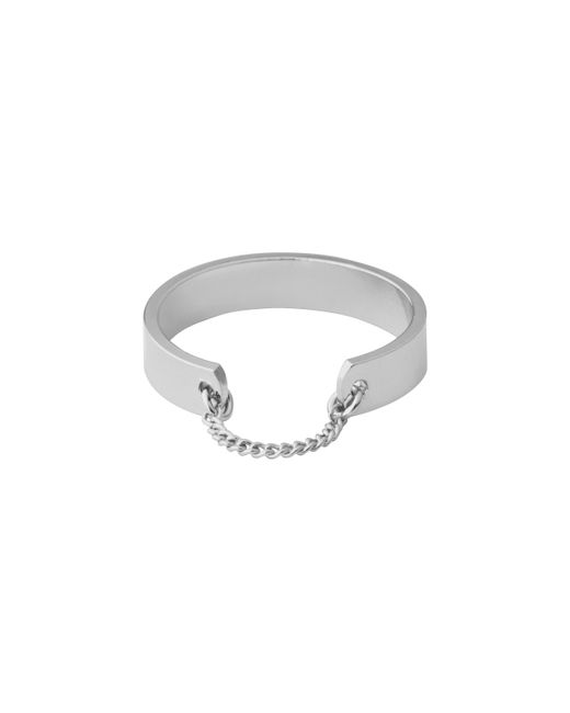 Whistles | Metallic Chain Hoop Ring | Lyst