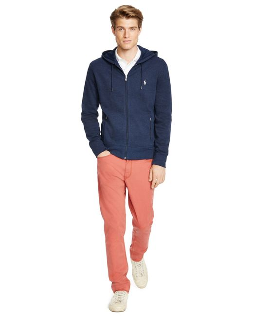 Polo ralph lauren French-rib Full-zip Hoodie in Blue for Men (Winter Navy) | Lyst .