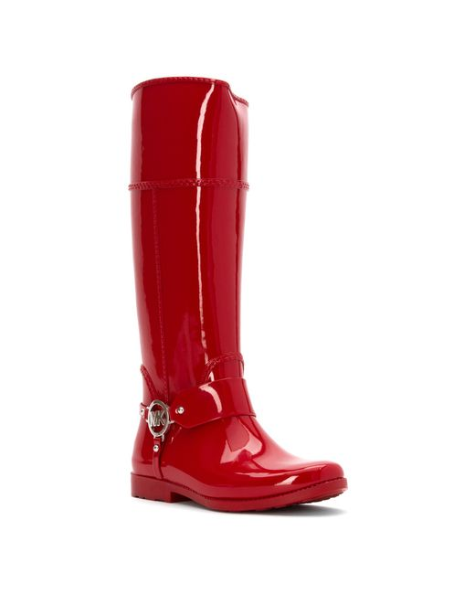 Michael michael kors Fulton Harness Tall Rain Boot in Red ...