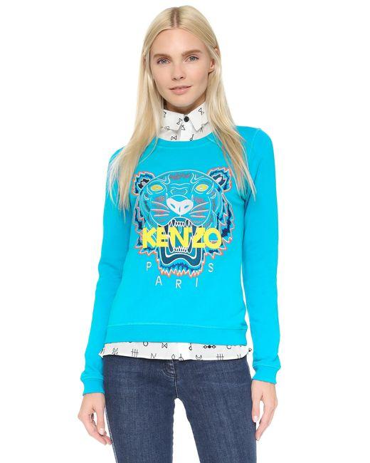 KENZO | Blue Tiger Sweatshirt | Lyst