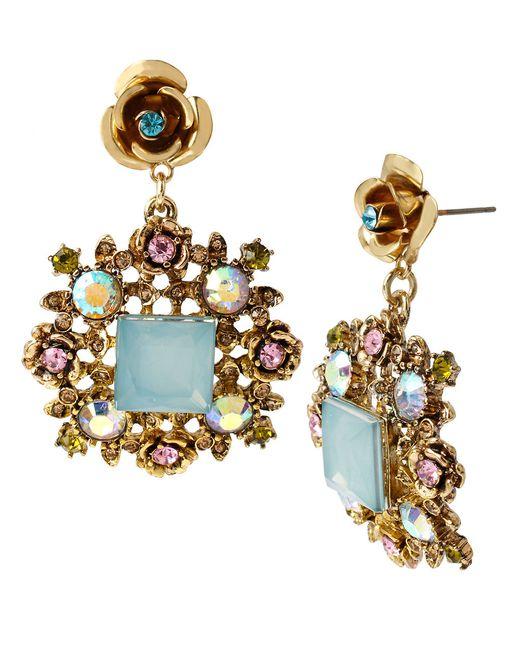 Betsey Johnson | Blue Frog Stud Earrings | Lyst