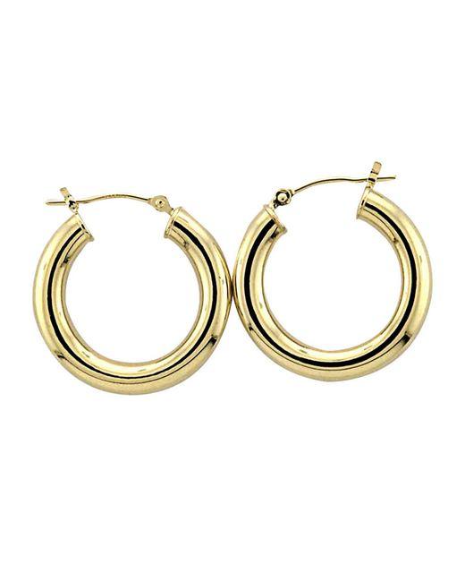 lord 14 kt yellow gold polished tubular hoop