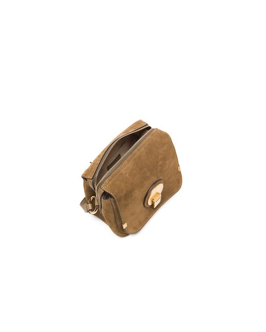 chloe replica wallet - Chlo�� Indy Small Suede And Leather Camera Bag in Khaki (Gray) | Lyst
