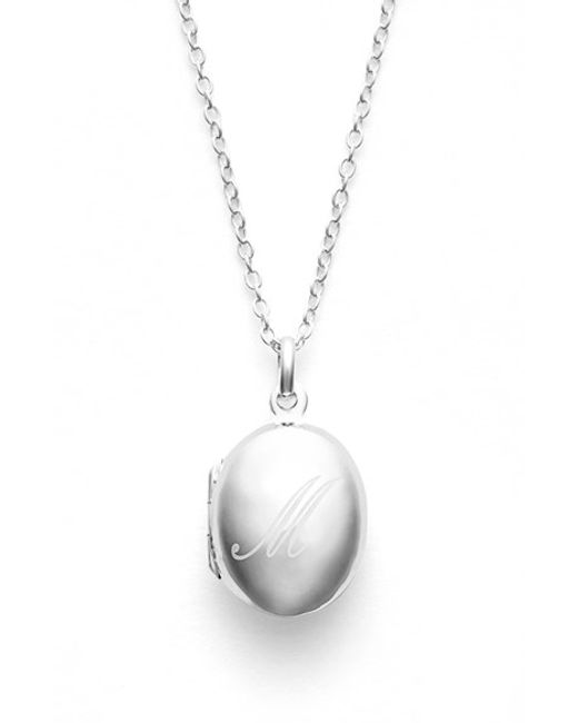 Argento Vivo | Metallic Engraved Initial Locket Pendant Necklace | Lyst