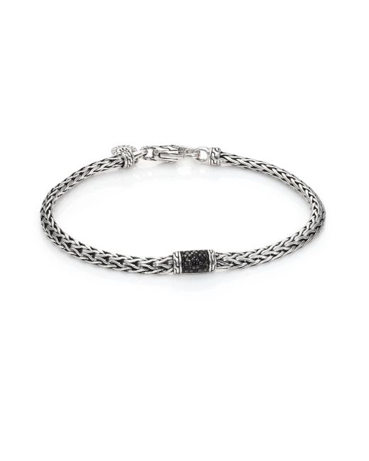 John Hardy | Metallic Classic Chain Black Sapphire & Sterling Silver Slim Station Bracelet | Lyst