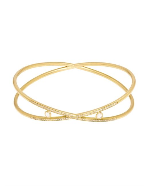Susan Foster | Metallic Diamond & Yellow-Gold Bracelet | Lyst