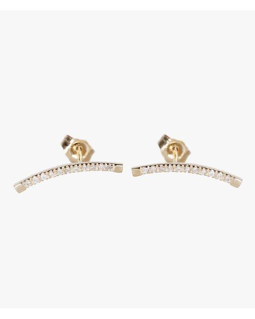 Loren Stewart | White Diamond Arc Pin Earrings | Lyst